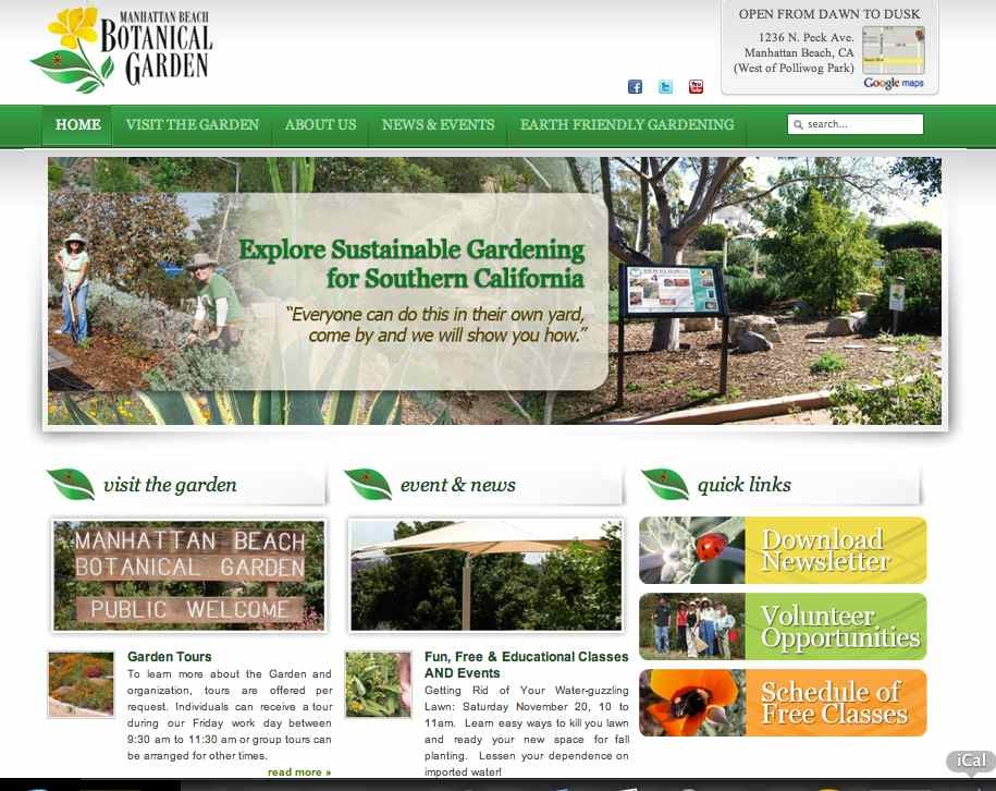 manhattan beach botanical garden website